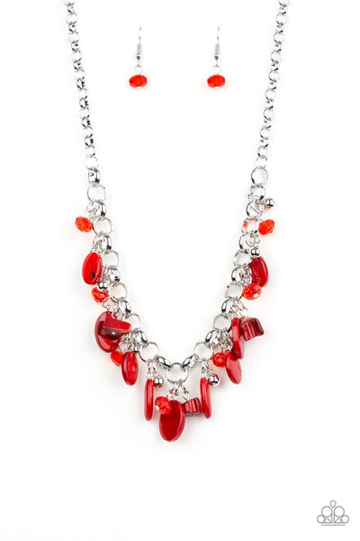 Paparazzi I Want To SEA The World - Necklace Red Box 44