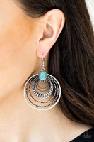 Paparazzi Southern Sol - Earrings Blue Box 47
