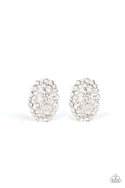 Paparazzi Daring Dazzle - Earrings White Box 46