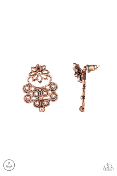 Paparazzi Garden Spindrift - Earrings Copper Box 49