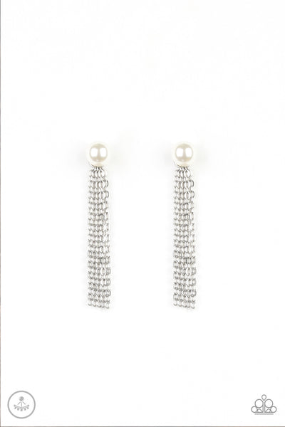 Paparazzi Rebel Refinement - Earrings White Box 11