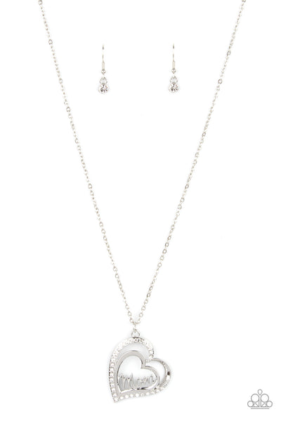 Paparazzi A Mothers Heart - Necklace White Box 87