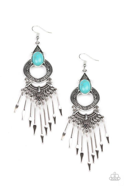 Paparazzi Southern Spearhead - Earrings Blue Box 79