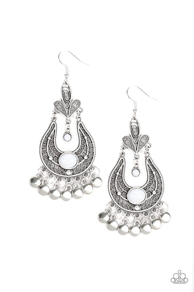 Paparazzi Fiesta Flair - Earrings White Box 34