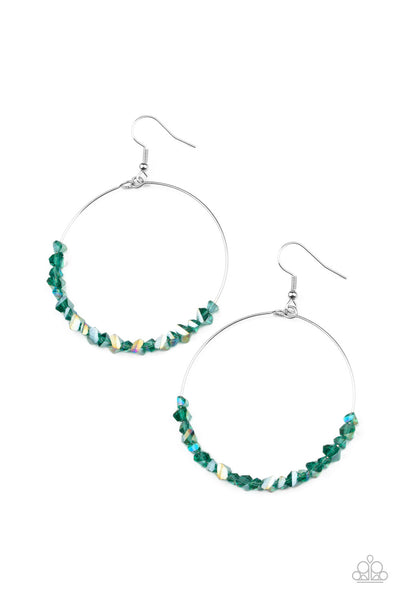 Paparazzi Glimmering Go-Getter - Earrings Green Box 87