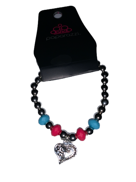 Paparazzi Starlet Shimmer Child's Bracelet Pink and Blue
