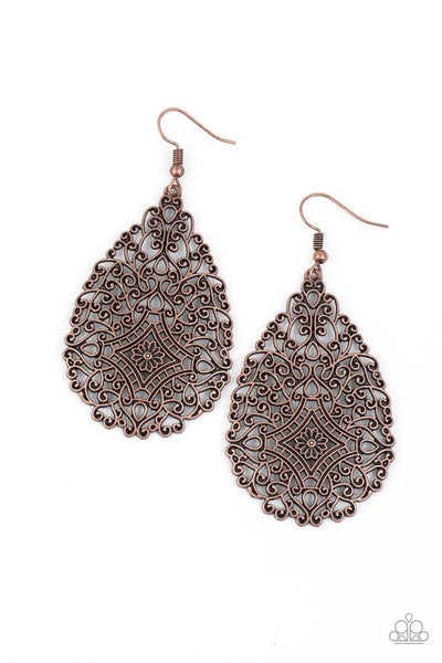 Paparazzi Napa Valley Vintage - Earrings Copper Box 79