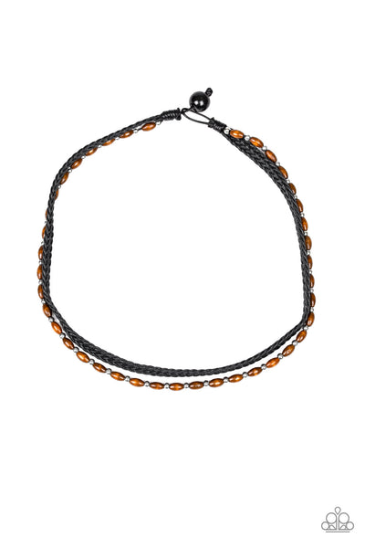 Paparazzi As Luck WOOD Have It - Urban Necklace Black Box 43