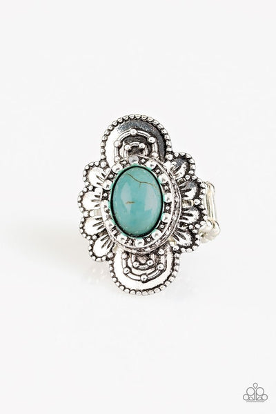 Paparazzi Basic Element - Ring Blue Stone Box 13