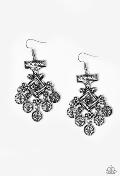 Paparazzi Unexplored Lands - Earrings Silver Box 12