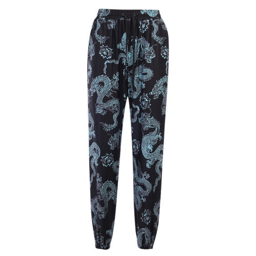 Dragon Print Pants