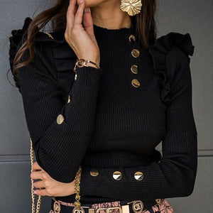 Ruffled Sleeve Blouse