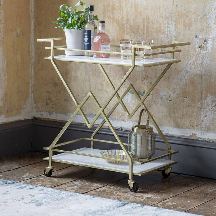Fountaine marble drinks trolley