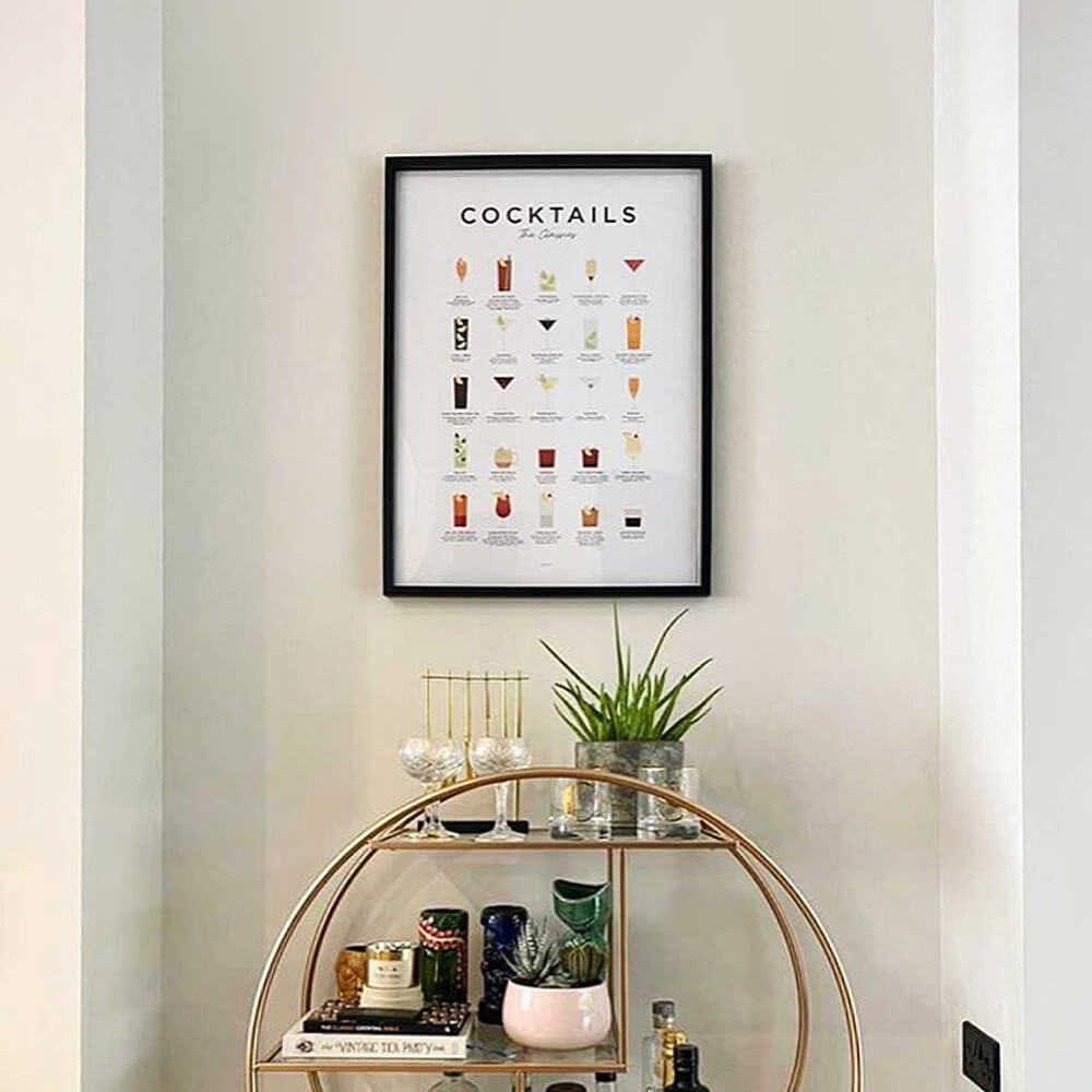 Bar Cart Cocktail Guide Print