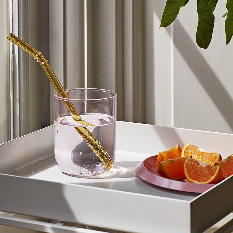 Sip glass straw set