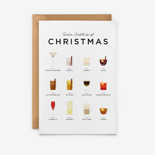 Christmas Cocktails Christmas Card