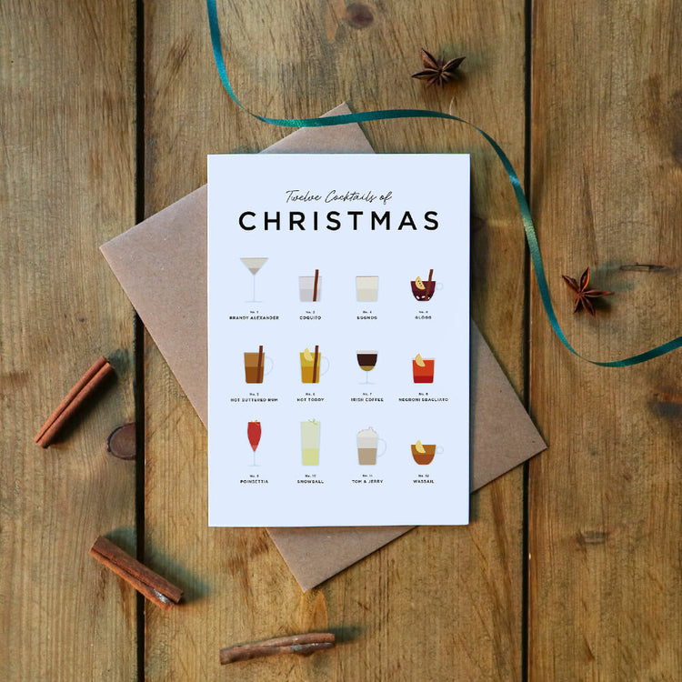 Festive Cocktail Recipes Christmas Card
