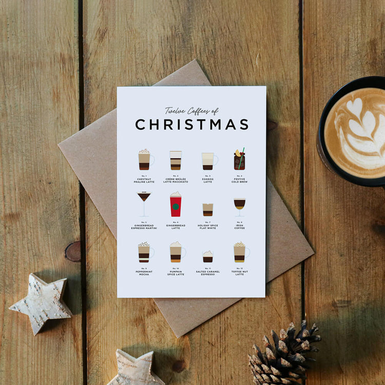 Festive Coffee Recipes Christmas Card