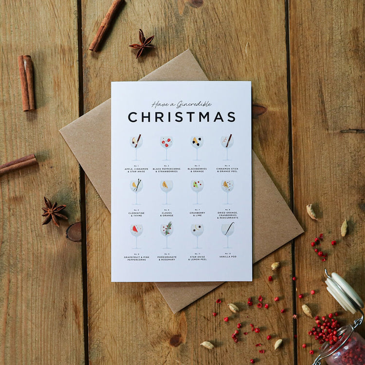 Gin & Tonic Christmas Cards