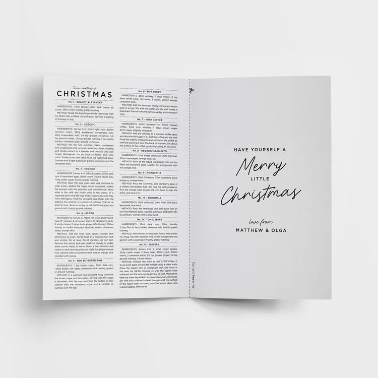 Fun Christmas cards printed with your greeting on the inside