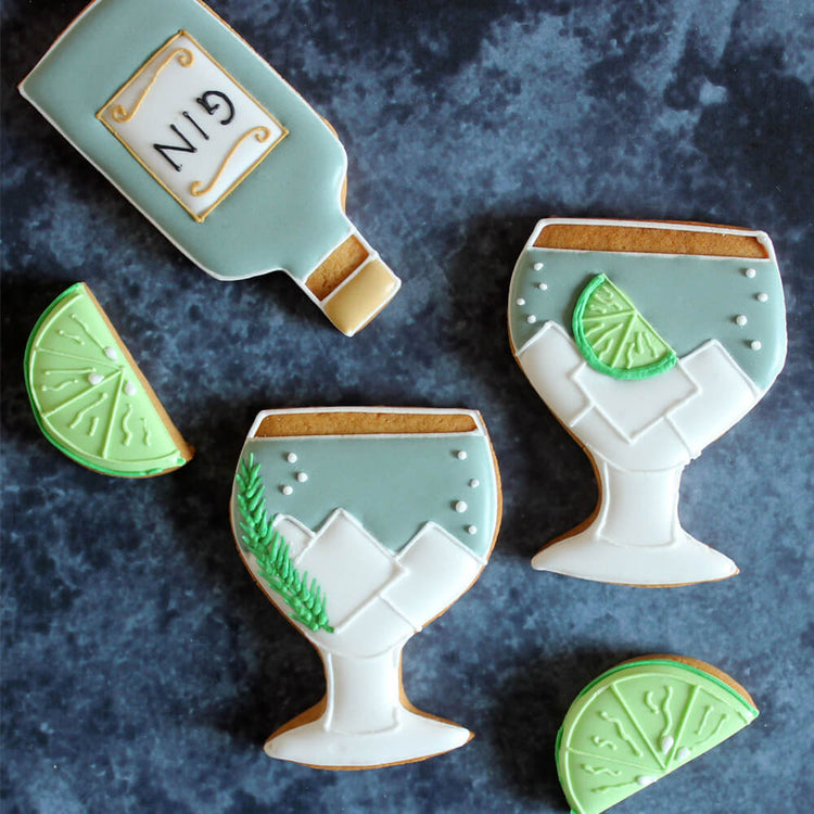 Gin & Tonic Letterbox Biscuits from Biscuiteers