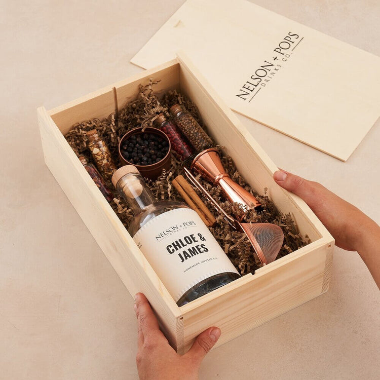 Personalised Make Your Own Gin Kit from Nelson + Pops