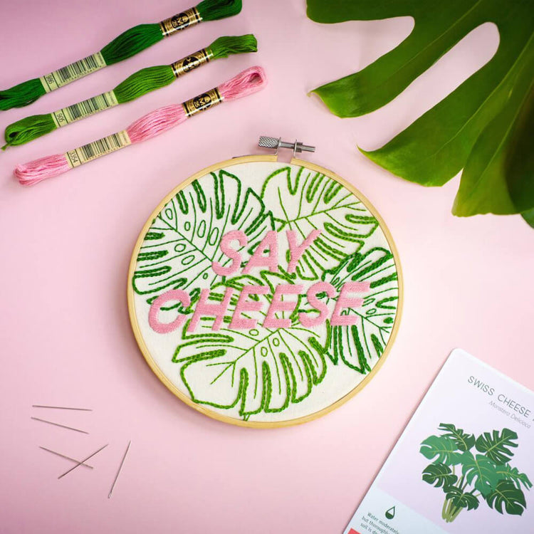 'Say Cheese' DIY Hand Embroidery Kit