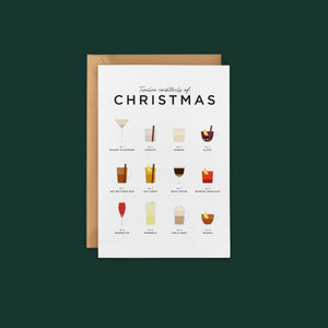 Christmas Cocktail Recipe Greeting Cards
