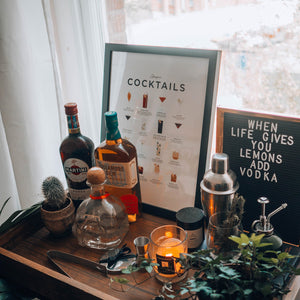 Cocktail prints and wall art