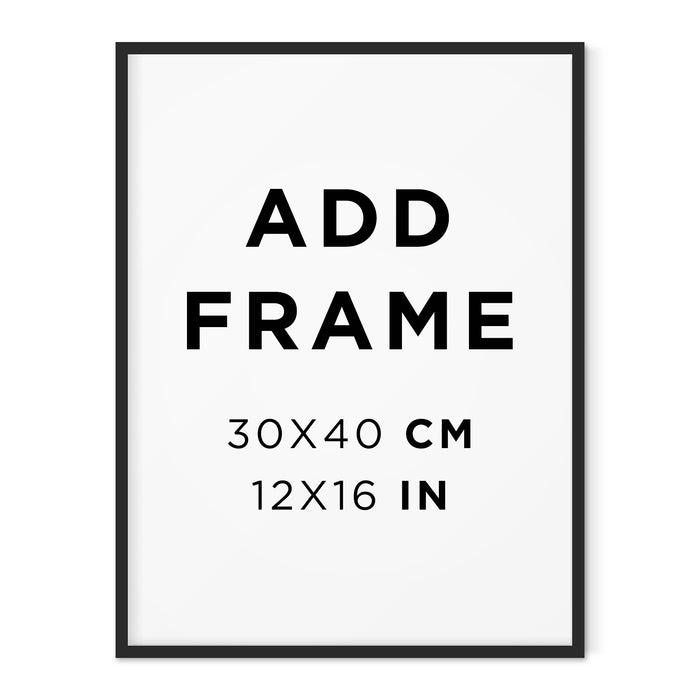 ADD A FRAME - 30x40cm black