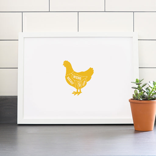Chicken Butcher Print – Solid