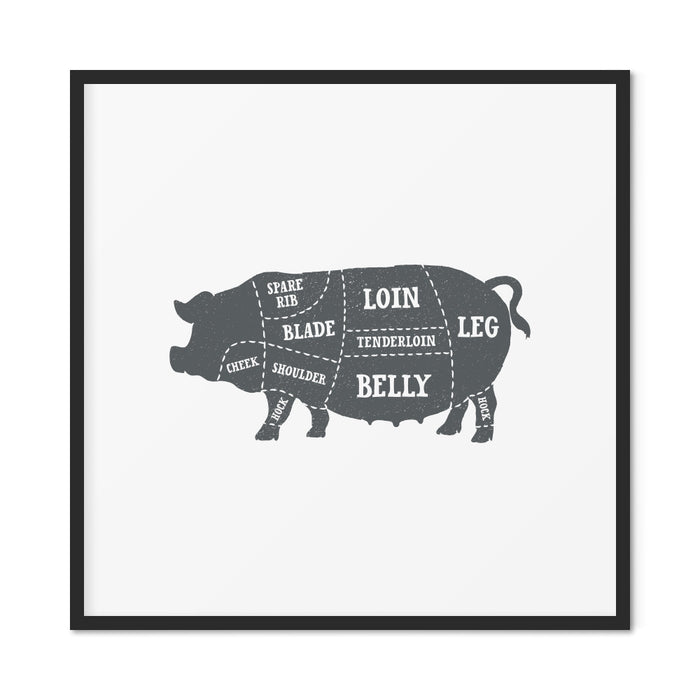 Pork Butcher Print – Solid