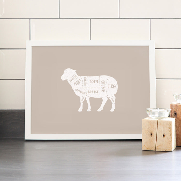 Lamb Butcher Print – Solid