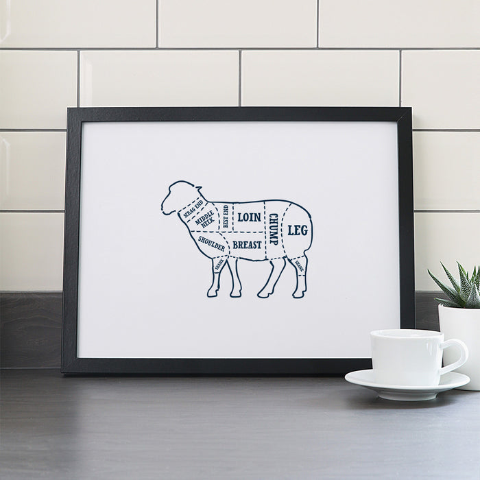 Lamb Butcher Print – Outline