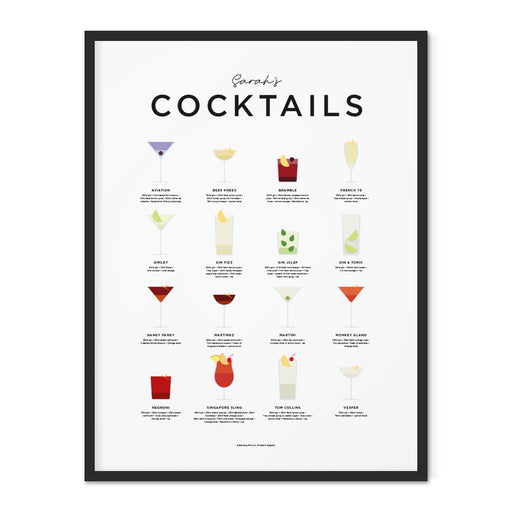 Personalised Cocktails art print