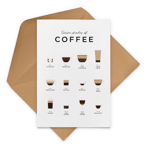 Coffee Guide Greeting Card