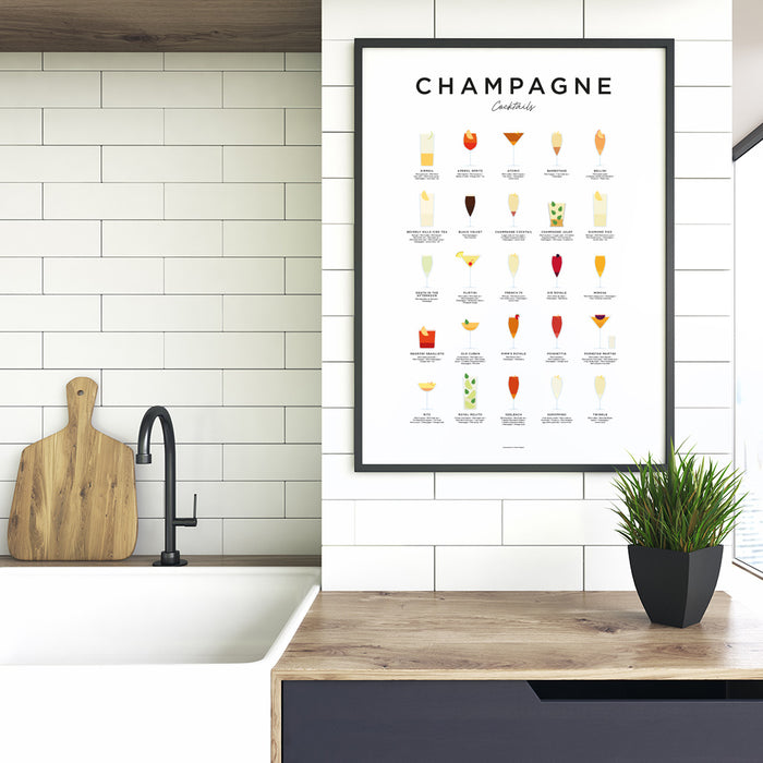 Champagne Cocktails art print