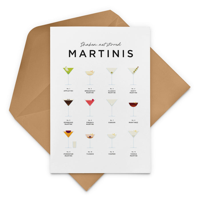 Shaken Not Stirred Martini Greeting Card – Christmas Card
