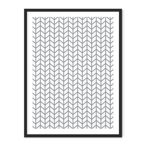 Chevron Geometric Art Print – Thick
