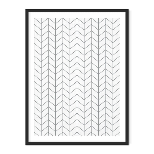 Chevron Geometric Art Print – Thin