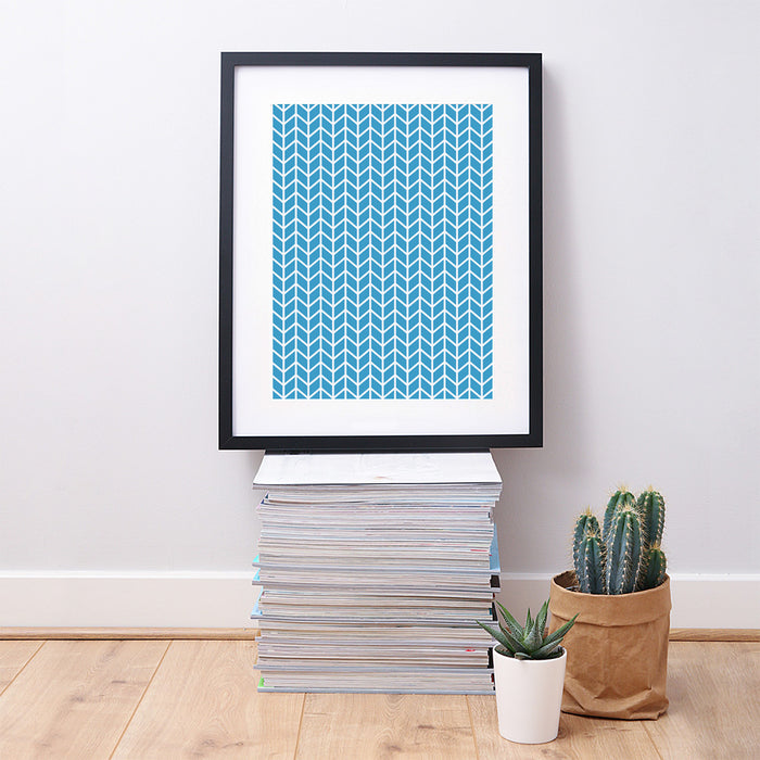 Chevron Geometric Art Print – Solid