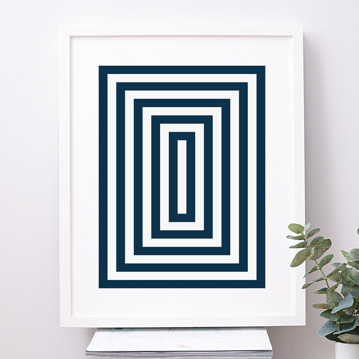 Rectangle Geometric Art Print
