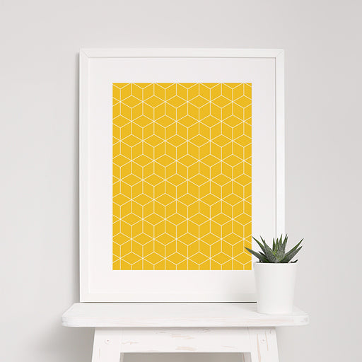 Cube Geometric Art Print – Large