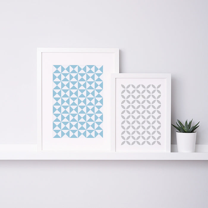 Pyramid Geometric Art Print