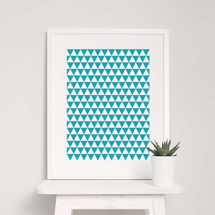 Triangle Geometric Art Print