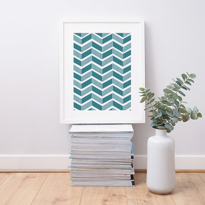 Abstract Zig Zag Geometric Art Print