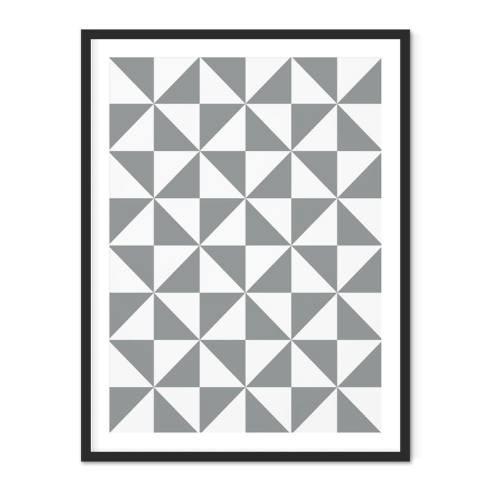 Turning Triangles Geometric Art Print