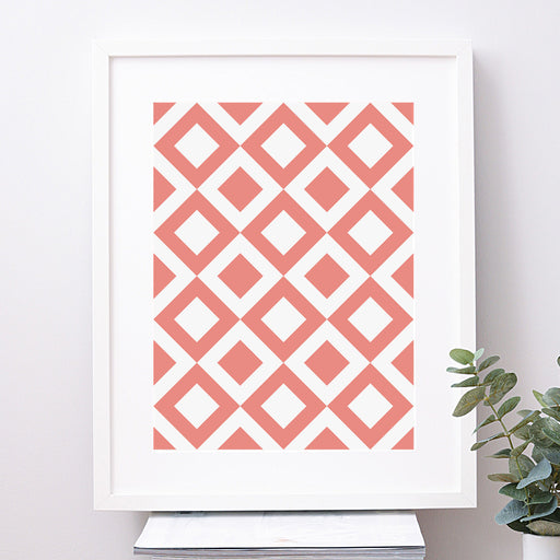 Diamond Geometric Art Print – Bold
