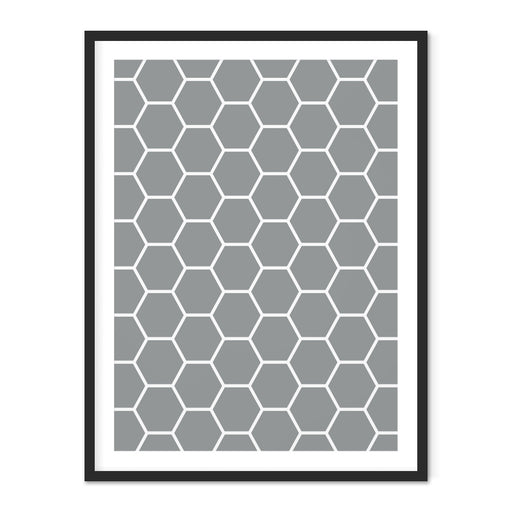Honeycomb Geometric Art Print