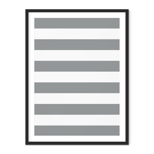 Striped Geometric Art Print